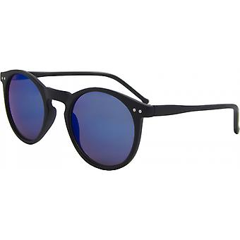 Solglasögon Unisex runt Kat. 3 matt svart/blå (16-104B)