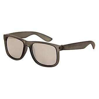 Sunglasses Unisex matt black with mirror lens (AZ-140)