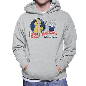 Sooty Retro Izzy Wizzy Let's Get Busy Men's Hooded Sweatshirt