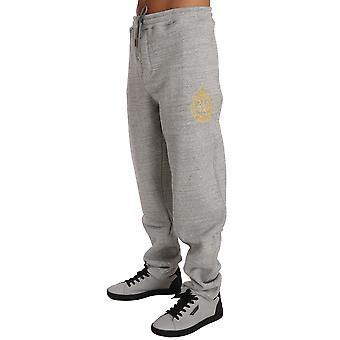 Gri bumbac Pulover Pantaloni Trening BIL1047-1