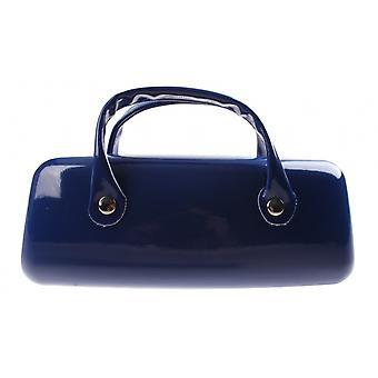 Brillenetui Damen   16 x 6 cm dunkelblau