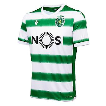 2020-2021 Sporting Lisbon Authentic Home Football Shirt (Kids)