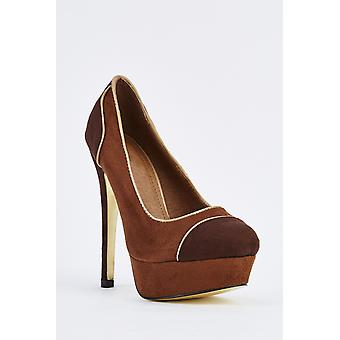 Brown Suedette High Heels