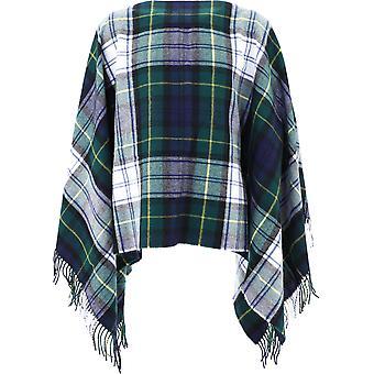 Comme Des Garçons Shirt W282011 Men's Multicolor Wool Poncho