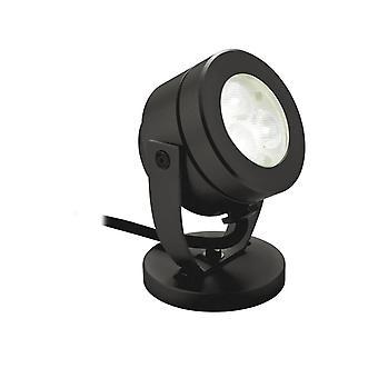 Firstlight Waterproof - LED 3 Light Waterproof Wall & Spike Spot Black IP68