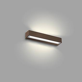 Faro Tacana - Extérieur LED Rust Brown Up Down Wall Light 24W 3000K IP65
