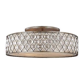 Elstead Lucia - 6 Light Flush Light, poliertes Silber