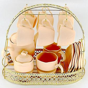 Large Capacity Gold Storage Rack Plating Coffee Cup Hob Dish Metal Stand Holder