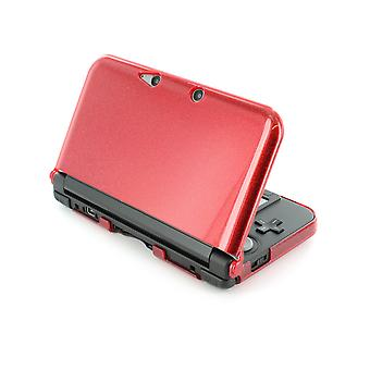 Zedlabz polycarbonate crystal hard case cover shell for nintendo 3ds xl (old 2012 model) protective armour - red glitter armor