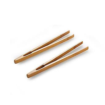 2pcs Bamboo Teaware Tea Clips - Wood Toast Tong Woode Grille-pain Bagel