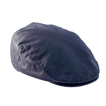 ZH002 (NAVY XL 62cm ) Buchanan Wax Flat Cap
