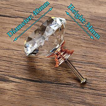20-40mm timantti muoto muotoilu kristalli lasi nupit, kaappi laatikko vetää keittiö