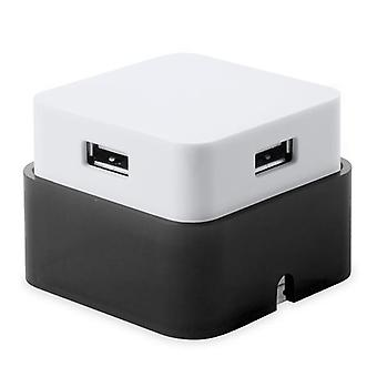 2-pack, USB HUB 4 Portar Dvobarvna Svart