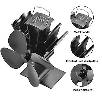 4 Blade Heat Powered Stove Fan, Wood Burner Home Efficient Heat Distribution