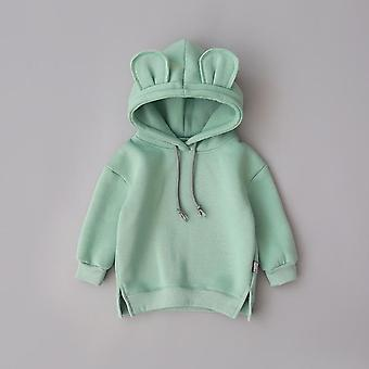 Baby Boys / Girls Clothes Solid Color Pullover Hooded-Long Sleeve Top Kids T Shirt Outwear Coat Moletom