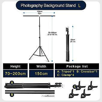 Professional Photography T-shape Backdrop Stands With Clamps For Studio