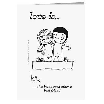 Liebe ist auch, die beiden besten Freund Grußkarte