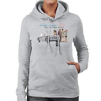 Austin Healey 3000 Sports Convertible British Motor Heritage Women's Hooded Sweatshirt