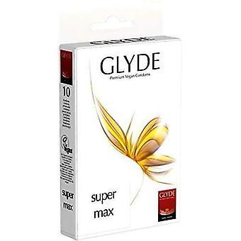 Glyde ultra super max vegan condoms pack of 10 natural