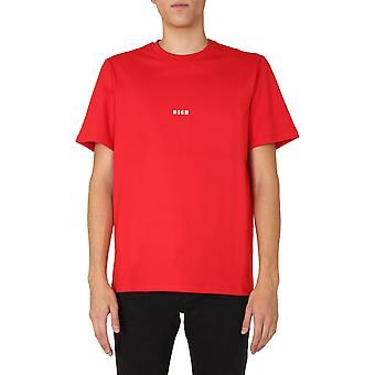 Msgm 2940mm16220759818 Mænd's Red Cotton T-shirt