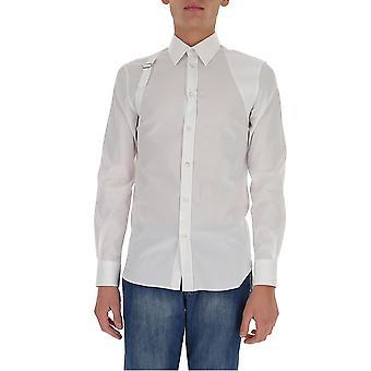 Alexander Mcqueen 624753qpn449000 Men's White Cotton Shirt