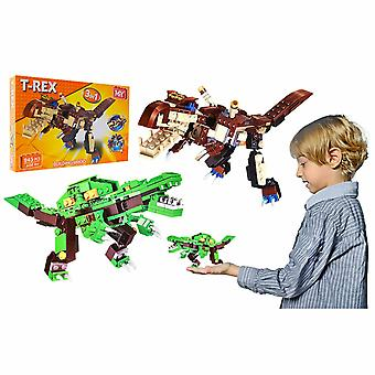 M.Y Games 3in1 Dinosaur Building Bricks Toy Set, 245Pcs - 2 Assorted Colours