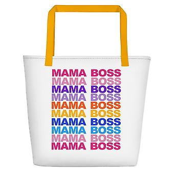 Mama Boss Print Tote Bag