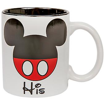 "Disney Mickey Mouse ""His"" 11oz Mug"