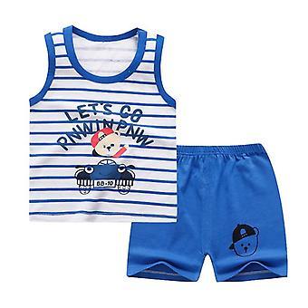 Puuvilla Kesä Vauvan Pehmeä Shortsit Puku T-paita, Vauvanvaatteet Halpaa Tavaraa