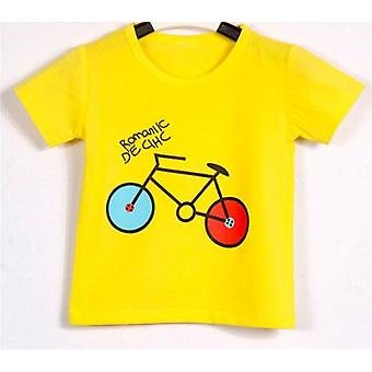 Sport Baby Short Sleeve, Bicycle Pattern T-shirts, Cotton Clothes Summer