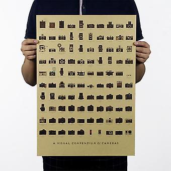 カメラノスタルジア装飾ヴィンテージクラフト紙ポスターマガジン