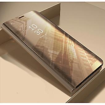 Stuff Certified® Xiaomi Redmi Note 9S Smart Mirror Flip Case Cover Case Gold