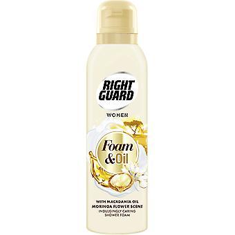 Right Guard 2 X Right Guard Shower Foam & Oil - Macadamia Oil