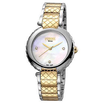Ferre Milano FM1L099M0081 Women's White MOP Dial Stainle Steel  Watch