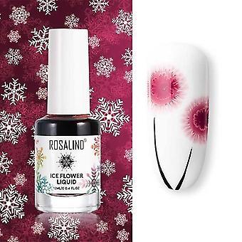 Vzduch suchý lak na nechty ľadový kvetinový lak na nechty umenie dekorácie