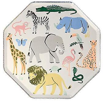 Meri Meri Safari Animals Paper Dinner Party Plates x 8