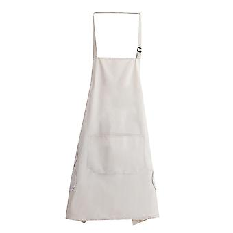 Homemiyn 100% Water And Oil Repellent Material Adjustable Bib Large Pocket Cooking Kitchen Aprons, Bbq Drawing, Women Men Chef
