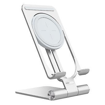 Nillkin mini 2-i-1 multifunksjonell 15w qi trådløs lading avtagbar justerbar vinkel aluminiumlegering mobiltelefon desktop holder