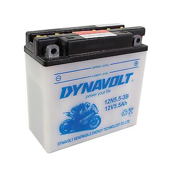 Dynavolt 12N553B Conventional Dry Charge Battery With Acid Pack