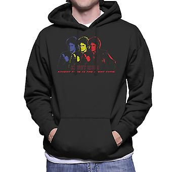 Knight Rider Knight Time Is The Right Time Men's Hooded Sweatshirt