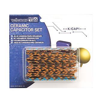 Velleman K/CAP1 224-Piece Ceramic Capacitor Kit
