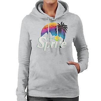 Sprite Palm Tree Sunset Women's Hooded Sweatshirt