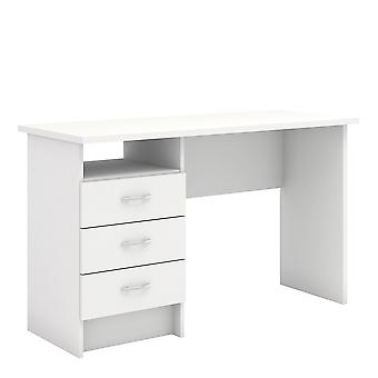 Fosy Desk 3 Drawers in White