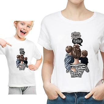 Funny Summer White Matching - Mother / Daughter T-shirt