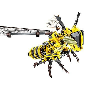 Simulation Insect Hand Bee Dragonfly Puzzle Diy Assembled Spell Building Block