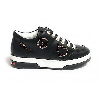Zapatilla de mujer Amor Moschino en Ecopelle Color Negro Ds18mo04