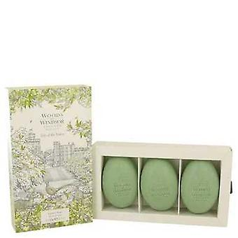 Lily Of The Valley (woods Of Windsor) By Woods Of Windsor Three 2.1 Oz Luxury Soaps 2.1 Oz (women) V728-538834