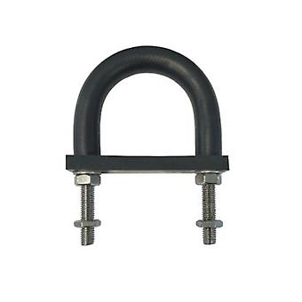 Isolerende gummi foret U-bolt og bagside pad 230 mm id (Suit 200 mm NB rør)-galvaniseret