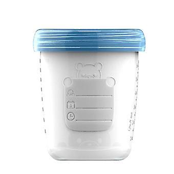 4 stycken / baby bröstmjölk lagring flaska samling mat frysbehållare