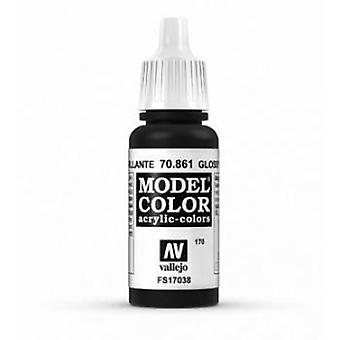 Vallejo Model Color 17ml Acrylic Paint - 861 Glossy Black